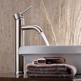 "Modern 12"" Bathroom Lavatory Vessel Sink Faucet Chrome Single/One Handle"