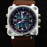 Designer Men's Sports Military Style Watch Dual Time