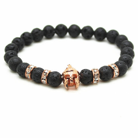 Spartan Beaded Bracelet With Natural Stone Beads