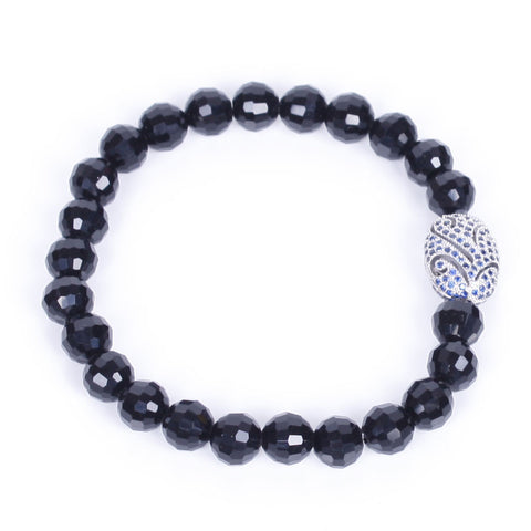 Agate Jewelry with Black Agate Beaded Bracelets
