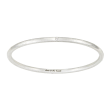 Load image into Gallery viewer, LOVE IS THE BOMB  1 WHITE DIAMOND BANGLE