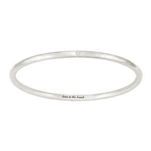 LOVE IS THE BOMB  1 WHITE DIAMOND BANGLE