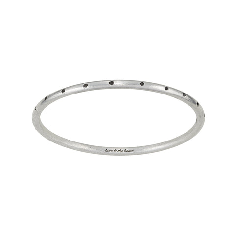 22 BLACK DIAMOND BANGLE -  SALE