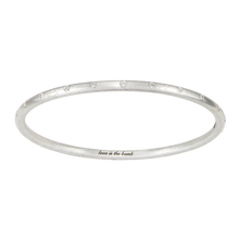 Load image into Gallery viewer, LOVE IS THE BOMB 22 WHITE DIAMOND BANGLE