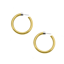 Load image into Gallery viewer, NEW VIRTUOUS CIRCLE GOLD TONE LARGE HOOPS