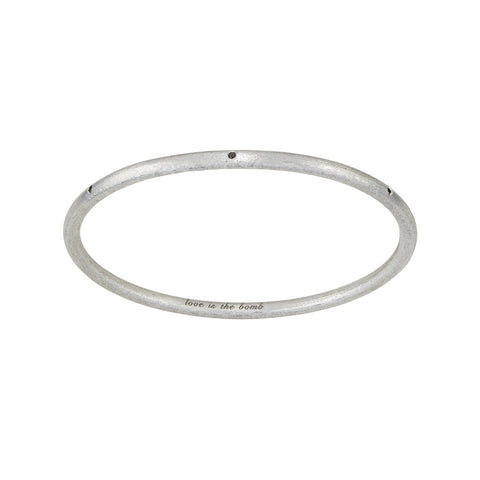 YOUR MESSAGE Love Is The Bomb -7 Diamond Bangle