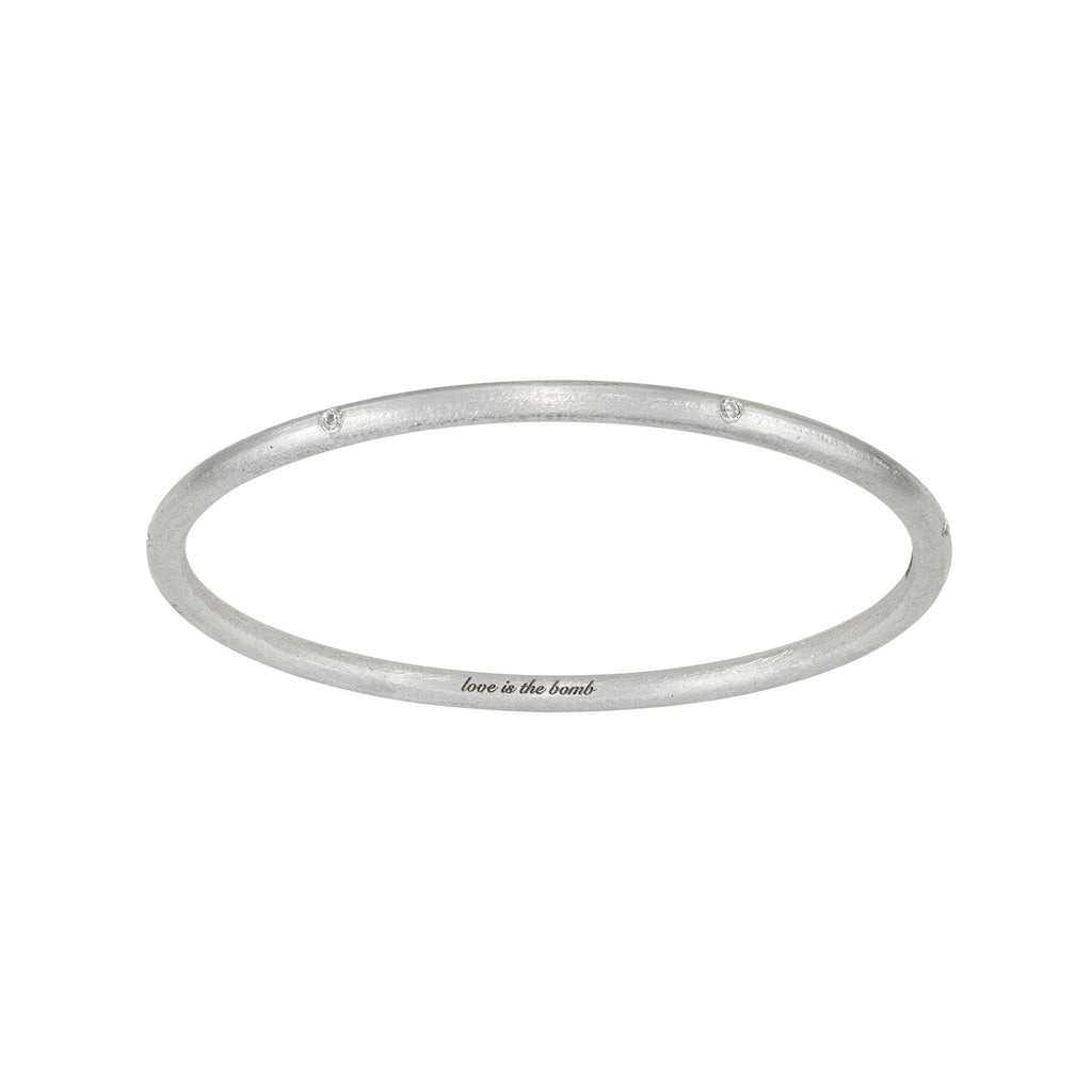 Love Is The Bomb -7 Diamond Bangle