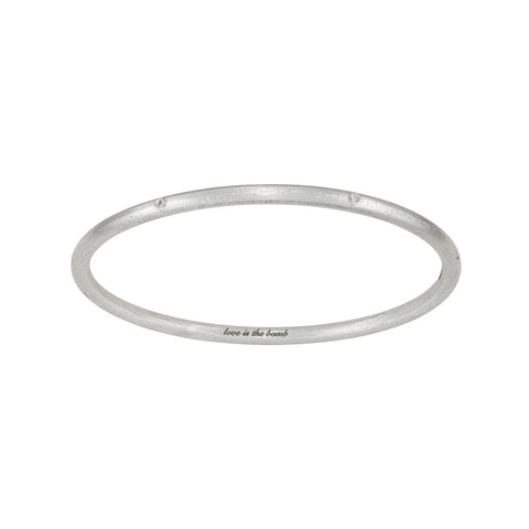 LOVE IS THE BOMB  7 DIAMOND BANGLE