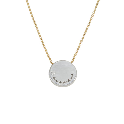 Love Is The Bomb Luxe DIAMOND Jewelgram Necklace