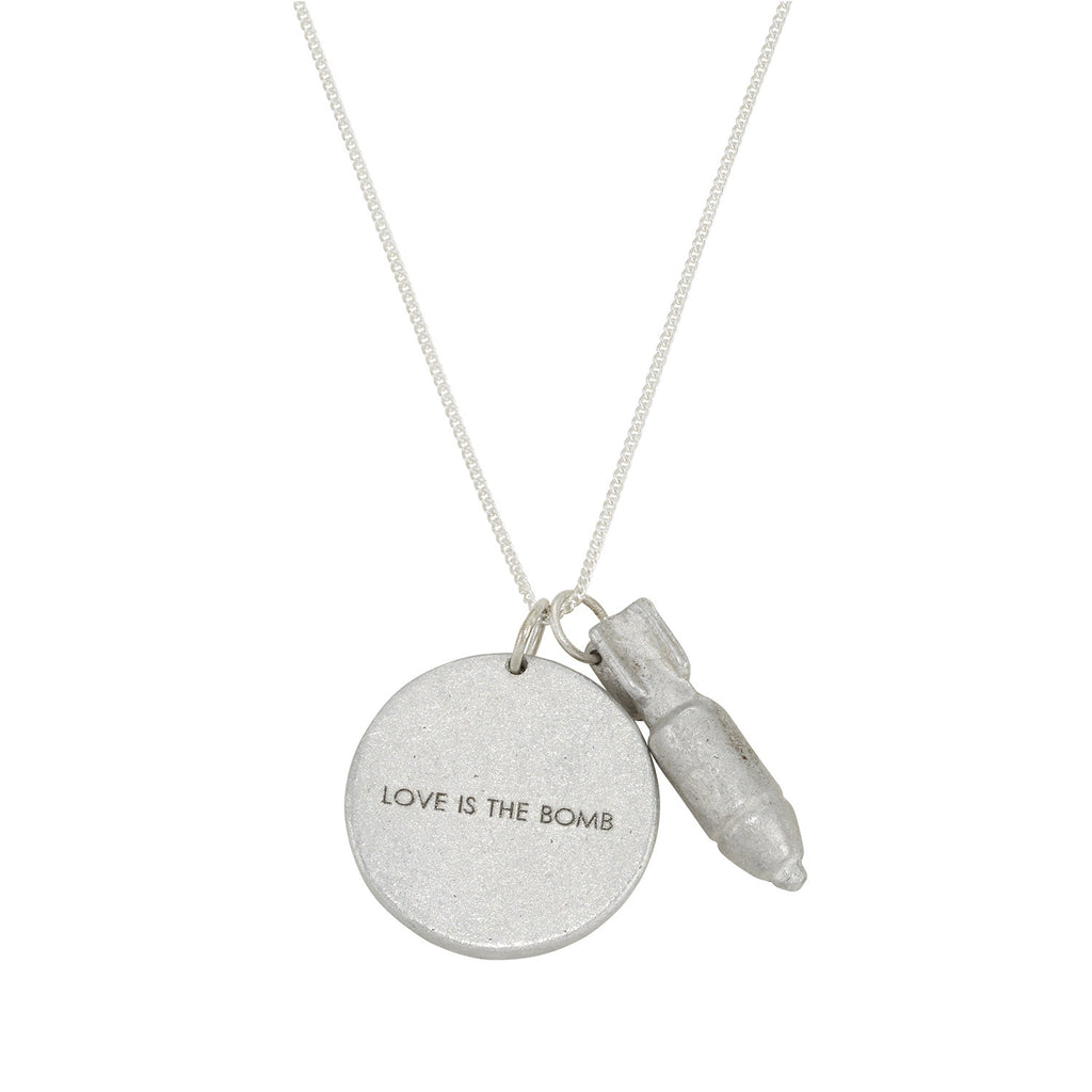 Love is the Bomb Jewelgram Necklace
