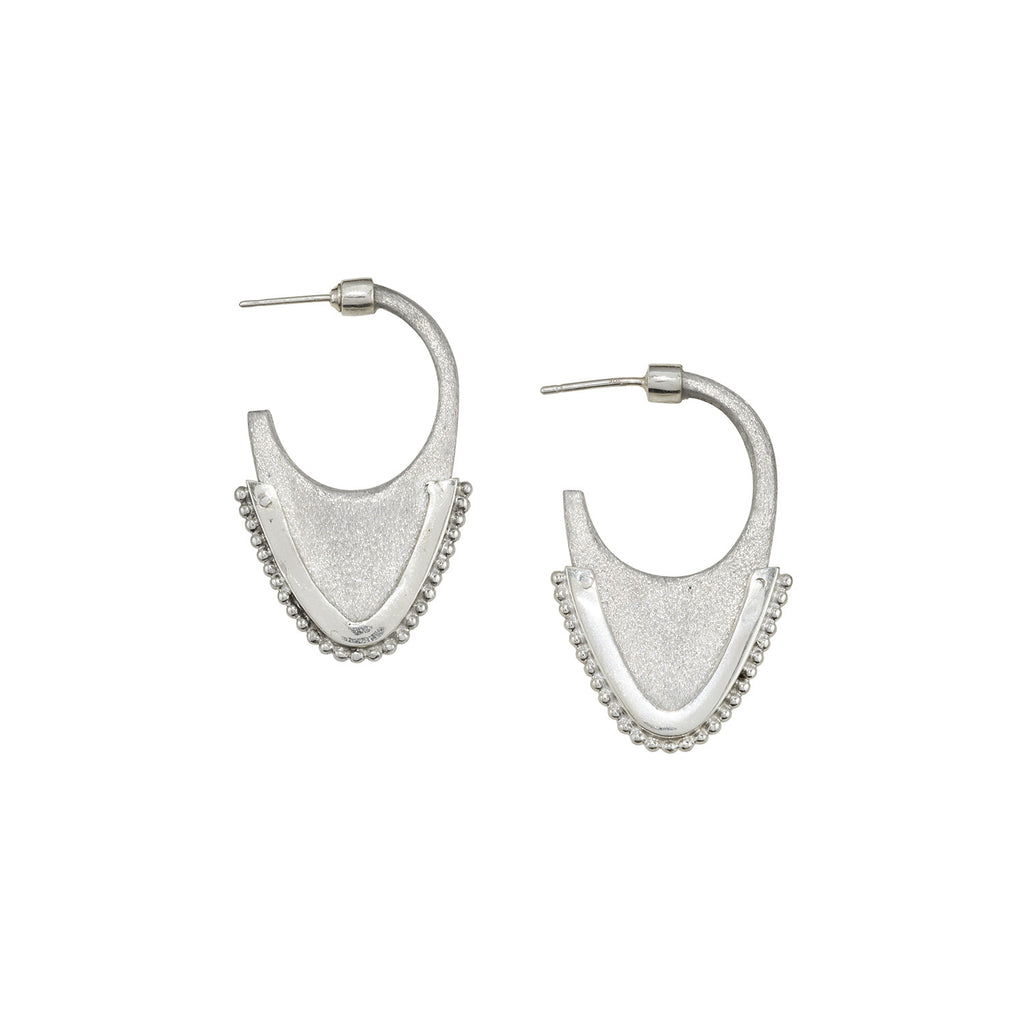 Laos Tribal Dome Earrings