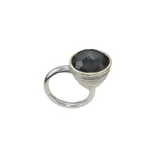 Load image into Gallery viewer, BEATRIX OST BLACK HEMATITE & CRYSTAL RING