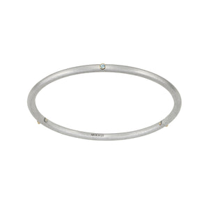 Birthstone 14K Skinny Bangle