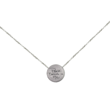 Load image into Gallery viewer, PEACE BEGINS IN ME / SEED OF LIFE MANTRA NECKLACE