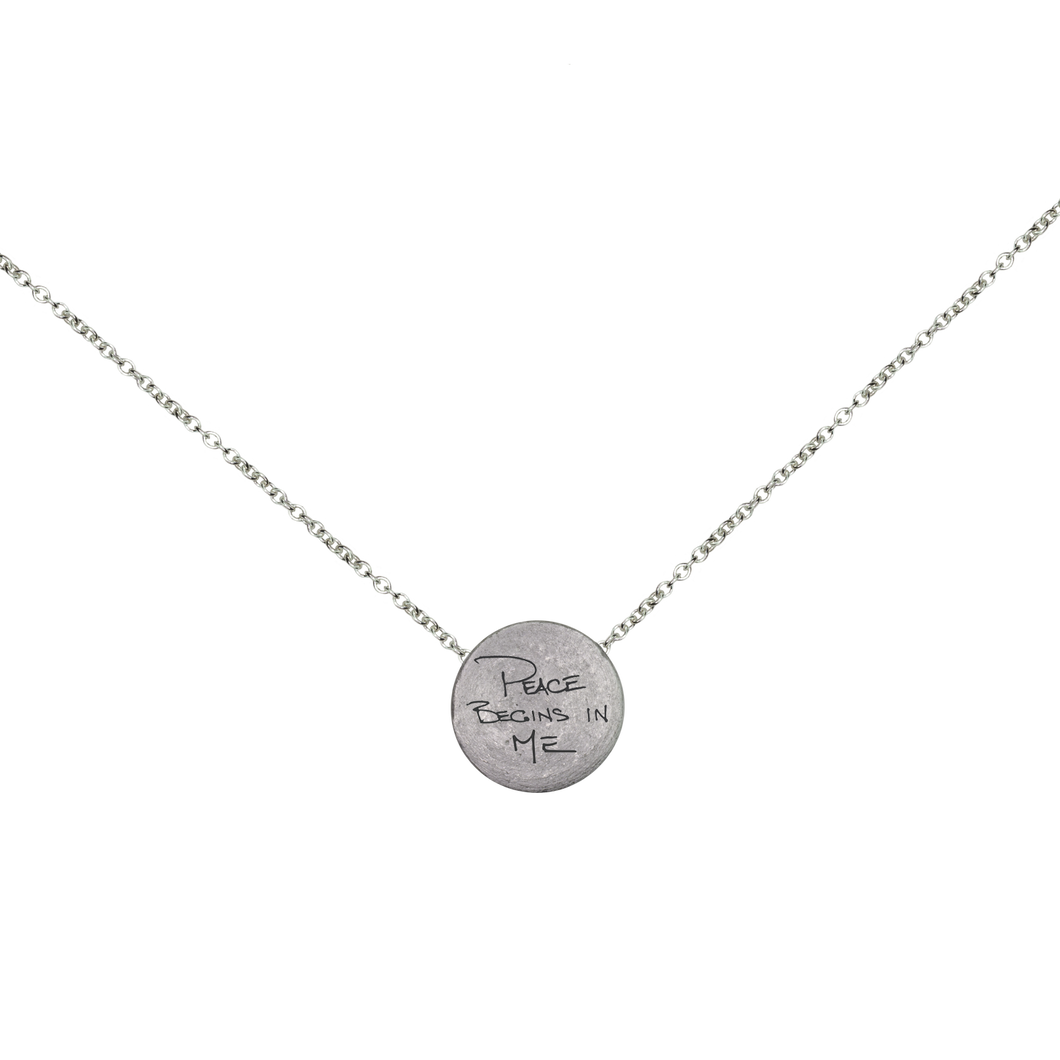 PEACE BEGINS IN ME / SEED OF LIFE MANTRA NECKLACE