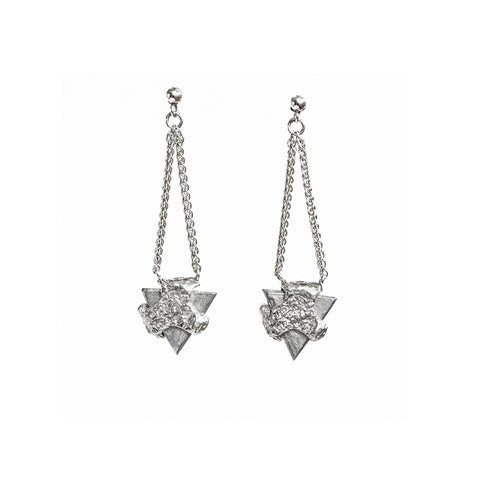 Ashes Triangle Earrings