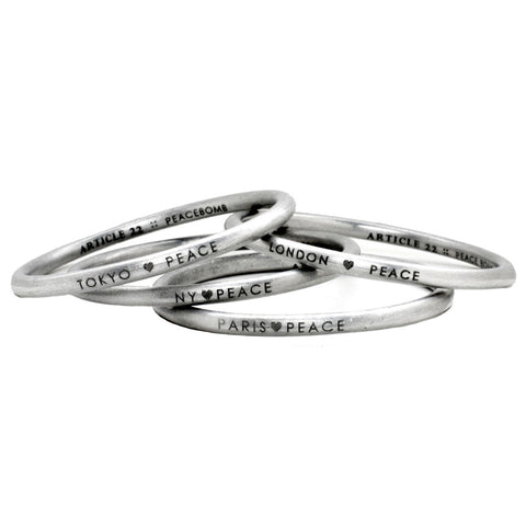 City ♥ Peace Bangle
