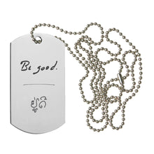 "Load image into Gallery viewer, ""BE GOOD"" COIN WRAP + DOG TAG NECKLACE SET"