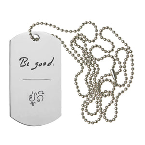 """BE GOOD"" COIN WRAP + DOG TAG NECKLACE SET"