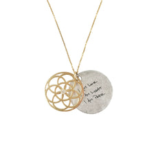 Load image into Gallery viewer, BIRTHSTONE SEED OF LIFE NECKLACE - 14K GOLD