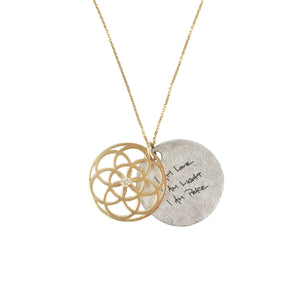 BIRTHSTONE 14K SEED OF LIFE NECKLACE