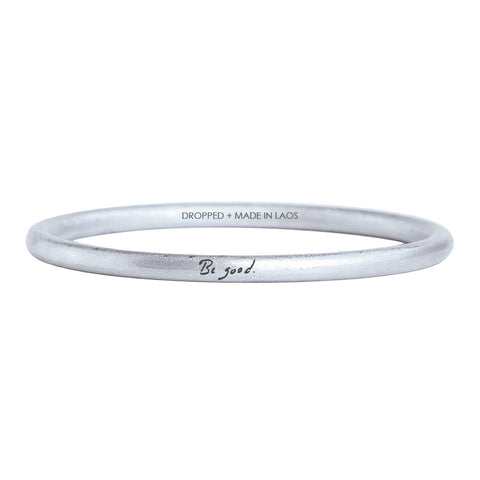 """BE GOOD"" BANGLE - REBECCA RUSCH COLLABORATION"