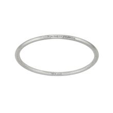 Load image into Gallery viewer, IN YOUR BODY IS A GOOD PLACE TO BE DIAMOND BANGLE