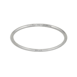 IN YOUR BODY IS A GOOD PLACE TO BE DIAMOND BANGLE
