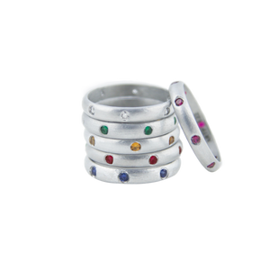 BIRTHSTONE 7 GEMS RING