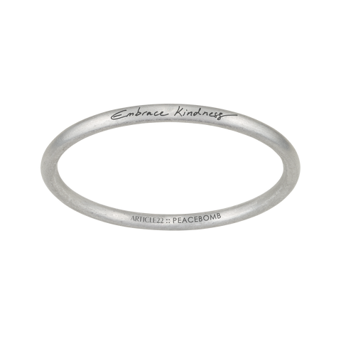 """EMBRACE KINDNESS"" BANGLE - CARRE OTIS COLLABORATION"