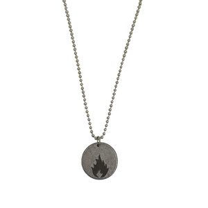 """KARMACOMA"" COIN NECKLACE - MASSIVE ATTACK X LEGACY OF WAR COLLABORATION"