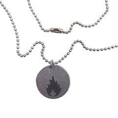 Massive Attack x Legacy Of War COIN Necklace - SILVER