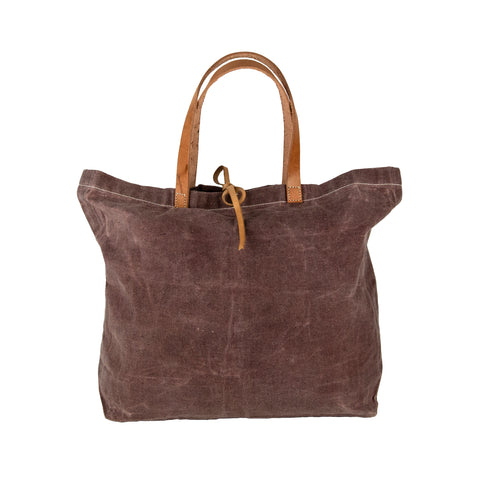 """The Women of our Artisan Community"" Waxed Cotton Tote Bag with SPECIAL GIFT"