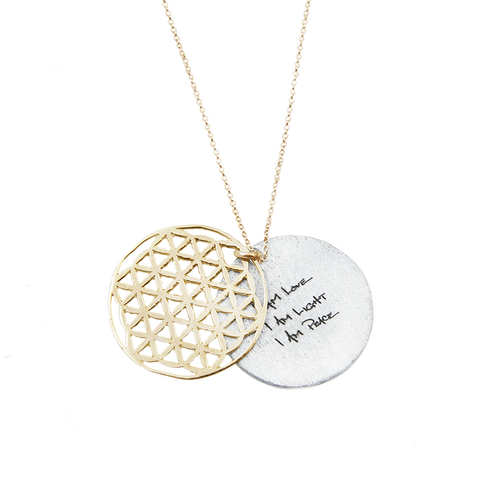 FLOWER of Life Necklace 14K GOLD or Silver