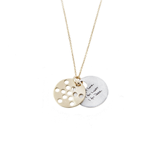Load image into Gallery viewer, 1.3cm FRUIT of Life Necklace 14K Gold or Silver