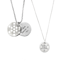 Load image into Gallery viewer, FRUIT OF LIFE NECKLACE SET (1.9CM AND 1.3CM)  - SALE $180 OFF