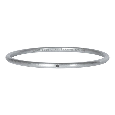 Karma Diamond Bangle / What Goes Around Comes Around