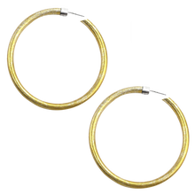 Load image into Gallery viewer, VIRTUOUS CIRCLE GOLD ANODIZED JUMBO HOOP EARRINGS