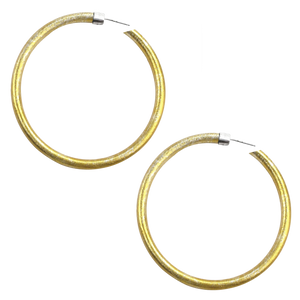 VIRTUOUS CIRCLE GOLD ANODIZED JUMBO HOOP EARRINGS