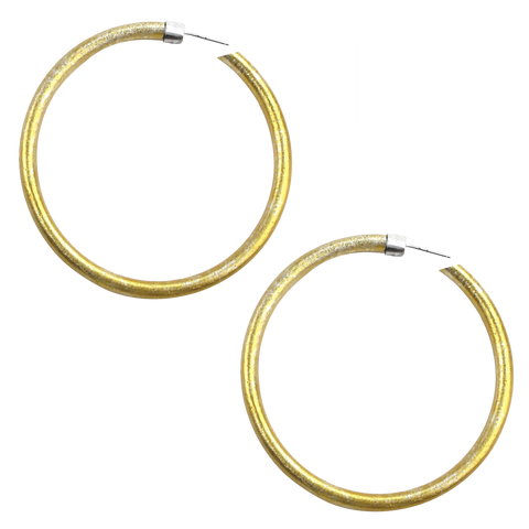 """TAKE UP SPACE BEING YOUR WHOLE SELF"" GOLD ANODIZE JUMBO HOOP EARRINGS - RYANN RICHARDSON COLLABORATION"