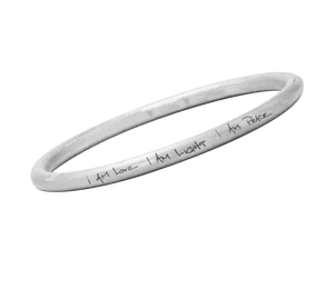 I am Love, I am Light, I am Peace Bangle