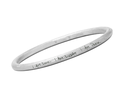 """I AM LOVE, I AM LIGHT, I AM PEACE"" BANGLE"