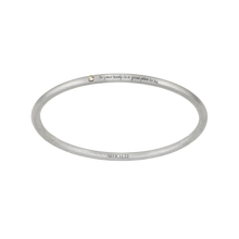 "Load image into Gallery viewer, ""IN YOUR BODY IS A GOOD PLACE TO BE"" 14k GOLD + DIAMOND BANGLE"