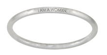 "Load image into Gallery viewer, ""SEE. HEAR. ACT. DO / I AM A WOMXN."" BANGLE - SHADO MAGAZINE COLLABORATION"