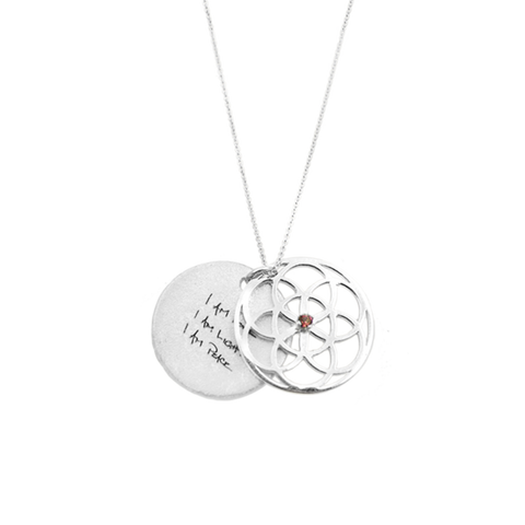 SEED of Life Necklace Silver + your choice of precious stone