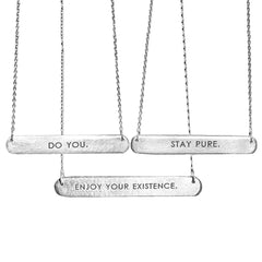 Do You Bar Tag Necklace