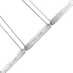 Stay Pure Jewelgram Tag Necklace