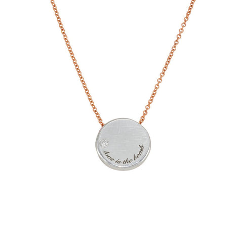 Love Is The Bomb Luxe DIAMOND Necklace