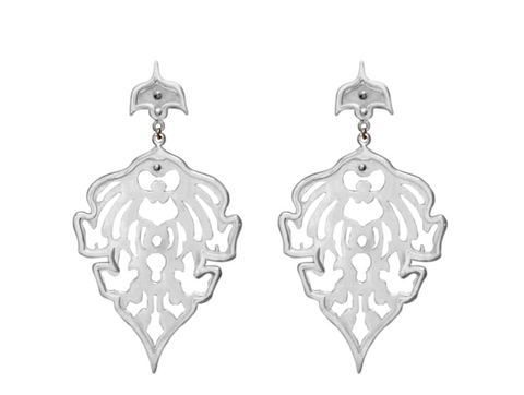 Temple Motif STERLING SILVER Shadow Earrings