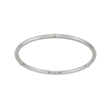Load image into Gallery viewer, LOVE IS THE BOMB 14K GOLD + 3 DIAMOND  BANGLE
